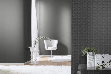 moderne tapete einfarbig grau